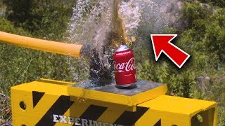 THIS HAPPENS WHEN YOU SMASHED COCA-COLA WITH BIG HAMMER!!