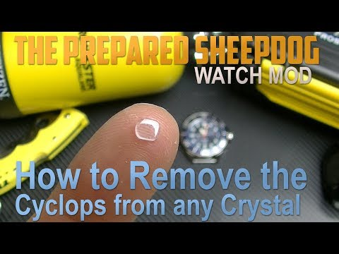 How to Remove the Cyclops from any Watch Crystal - Seiko Hardlex, Mineral or Saphire