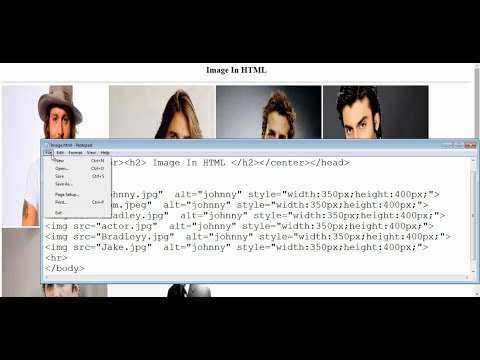 How To Insert Image In HTML Using Notepad (Step by Step Tutorials)