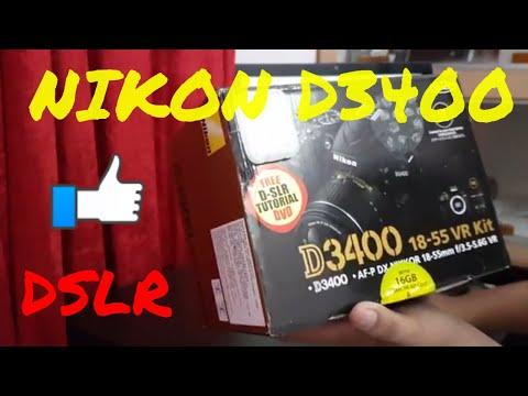 📷 NIKON D3400 DSLR CAMERA 🎥 !! | UNBOXING & HANDS ON | BEST DSLR FOR BEGINNERS !!