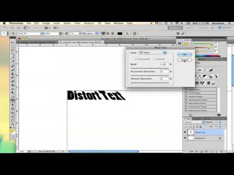 How to Distort Text in Photoshop : Using Adobe Photoshop
