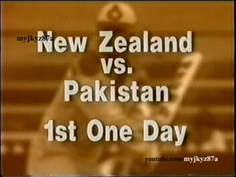 Match Highlights : 1st ODI - Pakistan tour of New Zealand at Dunedin 1993 /94