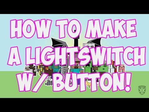 Minecraft: How to make a light Switch with Redstone Lamps (Minecraft 1.8.4 update)