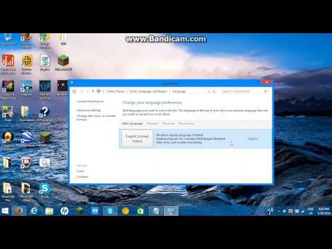Windows 8.1 How to change Language settings
