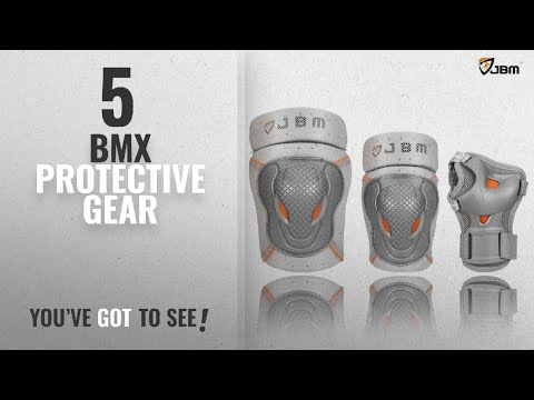 Top 10 Bmx Protective Gear [2018]: JBM BMX Bike Knee Pads and Elbow Pads with Wrist Guards