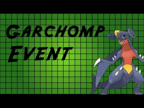 Pokemon X and Y Powersaves: Garchomp Event