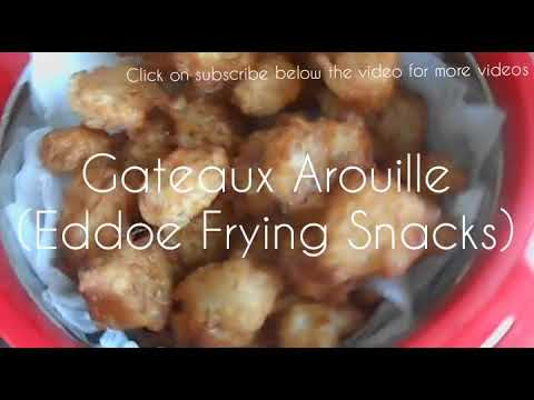 Gateau Arouille Mauritian Recipe (Eddoe Frying Snack)