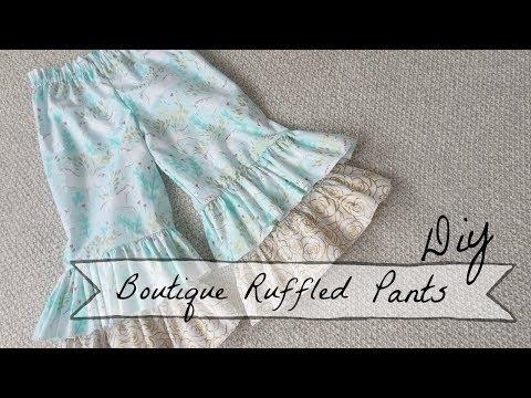 DIY Boutique Ruffled Pants