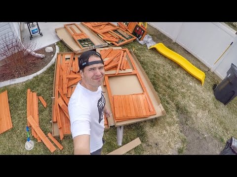 🤔 THIS WAS A BAD IDEA! TWO DADS TRY TO BUILD A SWING SET 🛠