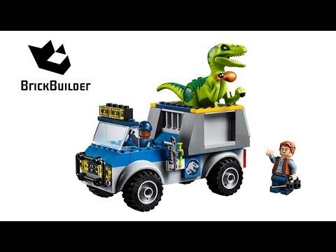 Lego Jurassic World 10757 Raptor Rescue Truck - Lego Speed build
