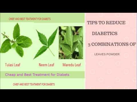 how to cure diabetes with leaves powder