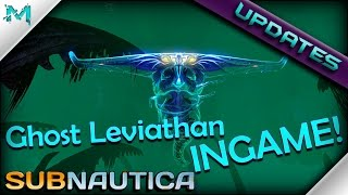 Subnautica UPDATES! GHOST LEVIATHAN, Orange Artifact USEABLE
