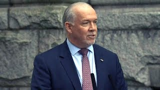 Download B.C. spending scandal 'a result of years of entitlement': Premier Horgan Video