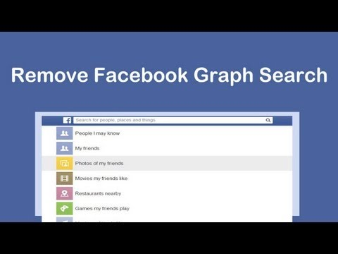 How to Remove or Turn Off Facebook Graph Search