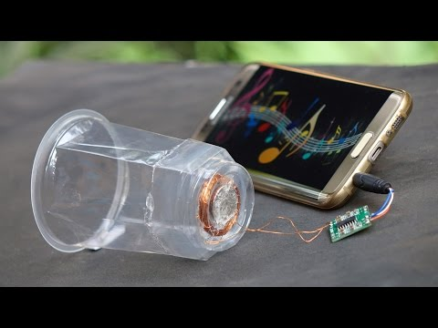 How to Make a Speaker at Home - Using Plastic Glass