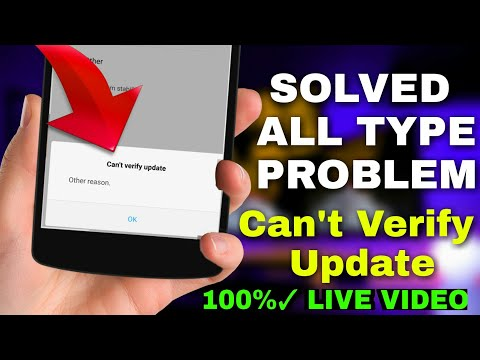 Can't Verify Update Solution For All Type Problems || All XIAOMI REDMI PHONES
