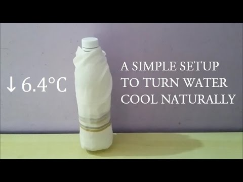 A simple setup to make water cool Naturally