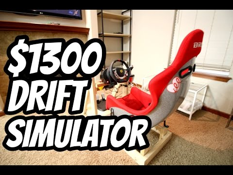 $1300 Drift Simulator With Real Racing Seat (GIVEAWAY)