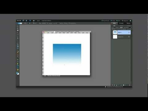How to create a simple gradient within a shape using Photoshop Elements