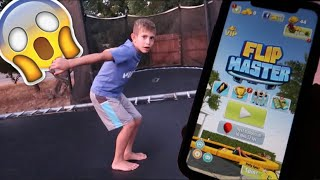 FLIP MASTER GAME... IN REAL LIFE!