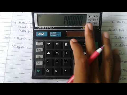 How To Use Markup Button On A Basic Calculator