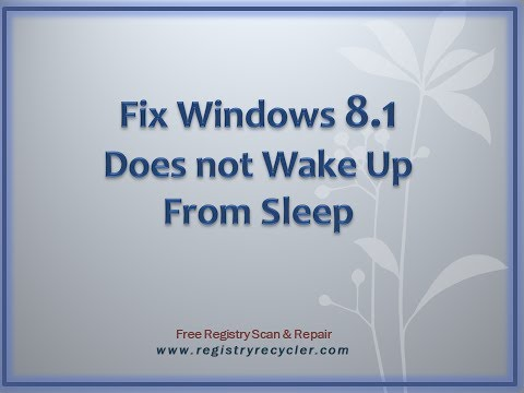 Fix Windows 8.1 Does not Wake Up From Sleep