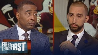 Nick Wright and Cris Carter on Adrian Peterson's criticism of the media | NFL | FIRST THINGS FIRST
