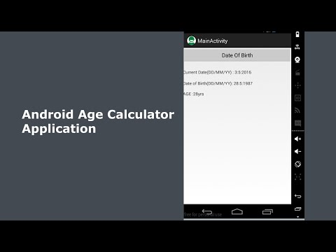 Android Age Calculator App