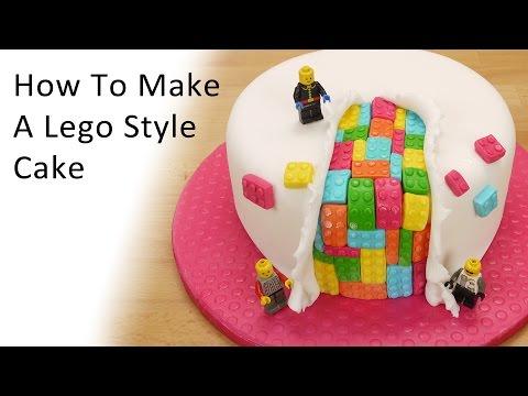 Lego Style Cake