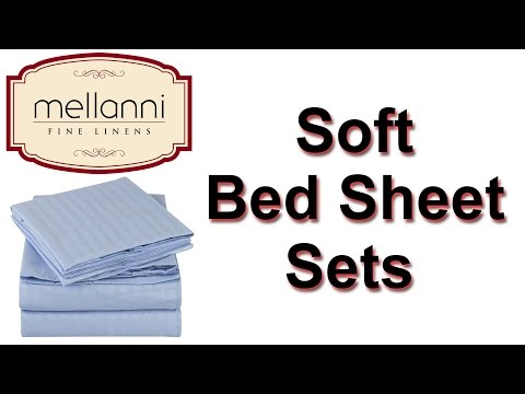 Mellanni Blue Bed Sheets | Blue Bedding Sets King - High Quality Brushed Microfiber Sheets