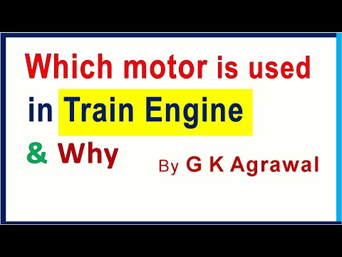 Why is AC Motor used in the electric train engine?