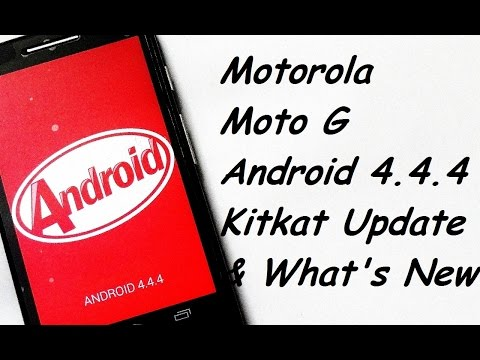 Motorola Moto G KitKat 4.4.4 Software Update and What's New