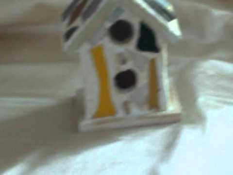 Mosaic Stained Glass Birdhouse 2