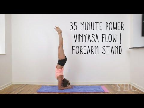 35 Minute Power Vinyasa   Forearm Stand