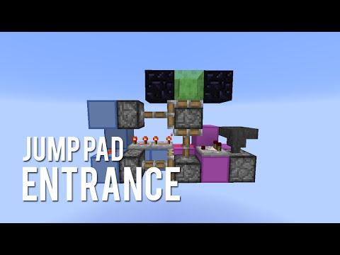 Redstone: Secret Jump Pad Entrance [Tutorial]
