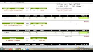 T-shirt Quoter & Screen Printing  Invoicing Software - T-shirt Calculator