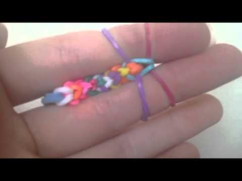 Easy Inverted Fishtail Loom Bracelet ( fingers)