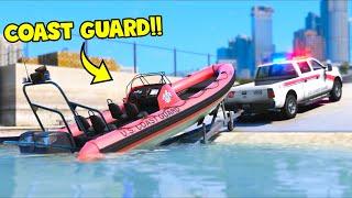 I played as a COAST GUARD!! (GTA 5 Mods)