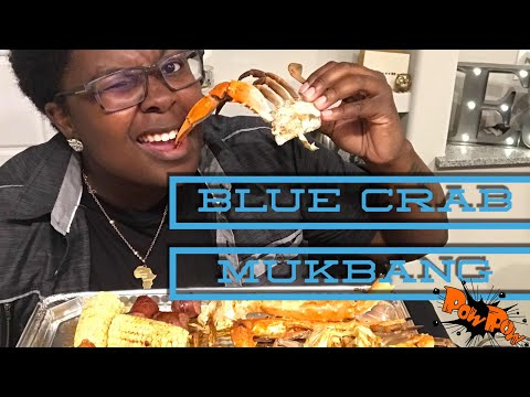 Blue Crab and Fried Lobster Seafood MUKBANG 🦀!!
