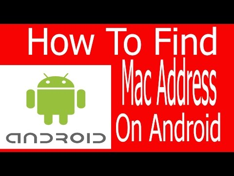 how to find mac address on android