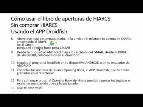 Como usar gratis el libro de aperturas de HIARCS (Ajedrez)