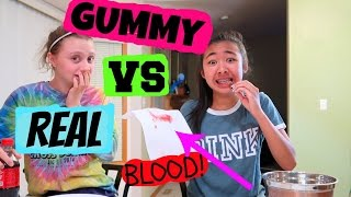 GUMMIE VS REAL FOOD CHALLENGE GONE WRONG (BLOOD EVERY WHERE)