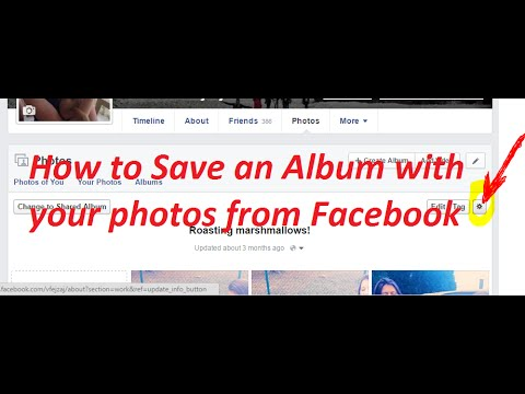 Save An Entire Album With Your Photos On Facebook - SOLVED