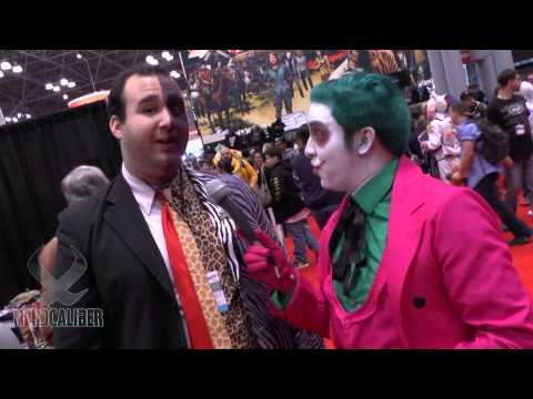 TWO FACE Cosplay with The Joker at New York Comic Con 2014