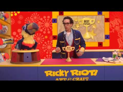 Ricky Riot and Arty Toucan are going to be on TV! The Ricky Riot Art & Craft Kids Show.
