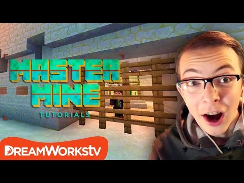 How to Build a Working Gate that Opens & Closes in Minecraft | MASTER MINE TUTORIALS