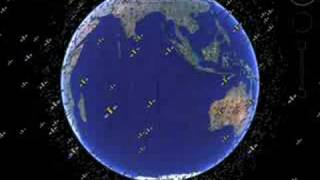 Real-time Satellites in Google Earth