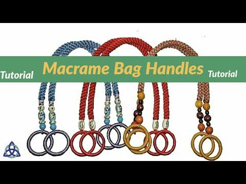 How to Make Macrame Handles for the Bag ♥ DIY ♥ Macrame Bag Belt