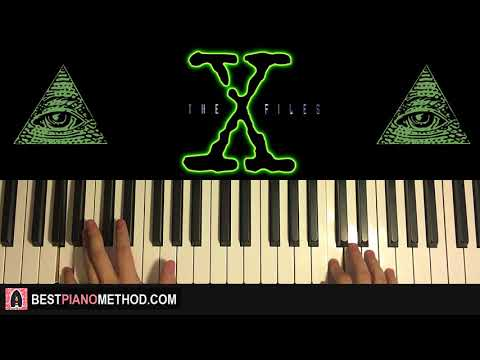 HOW TO PLAY - THE X FILES THEME SONG (ILLUMINATI) (Piano Tutorial Lesson)