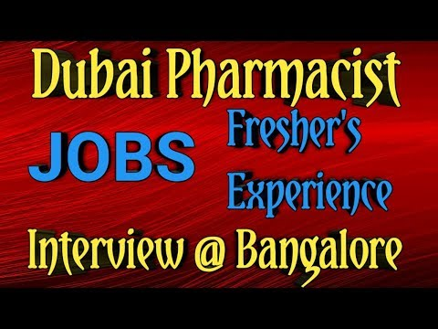 DUBAI PHARMACIST JOBS For Freshers & Experience@ Bangalore | Abroad Pharmacist Jobs | Pharma Guide